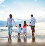 фото семьи на пляже